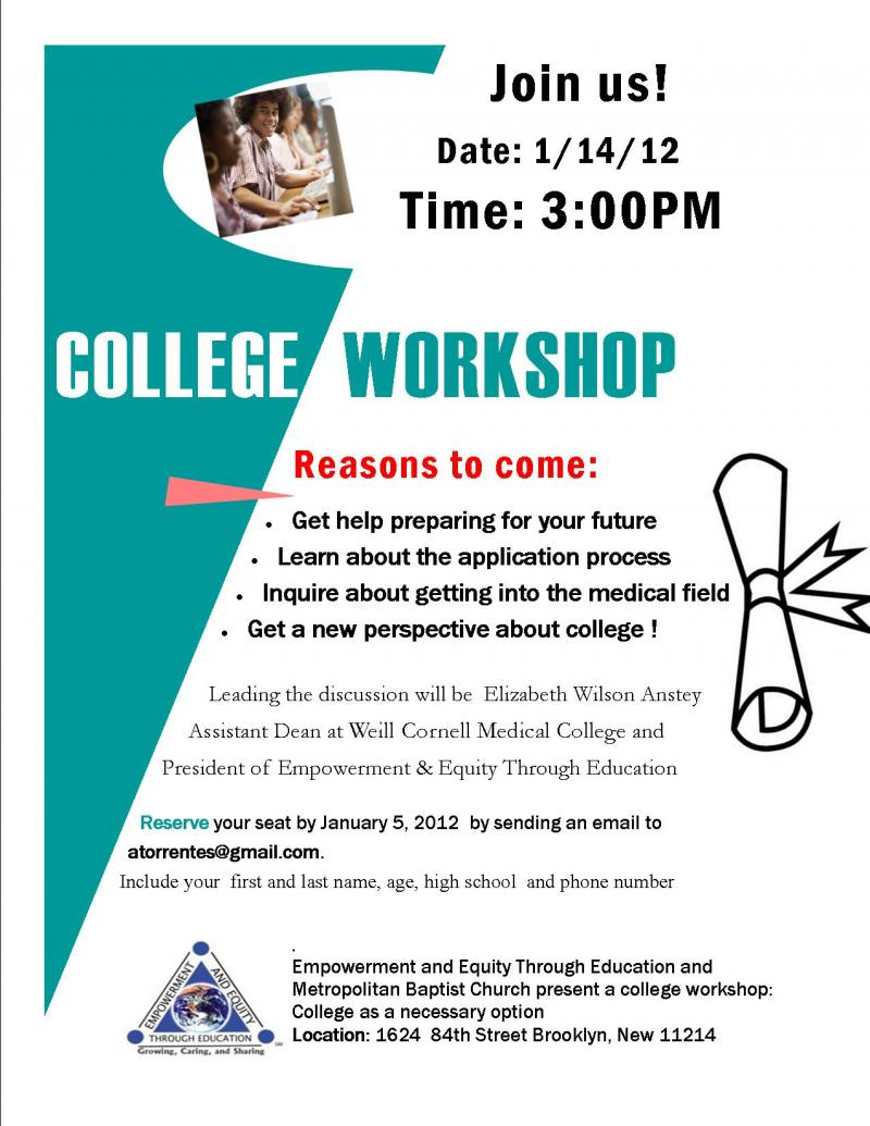 empowerment and equity through education inc recent news college workshops
